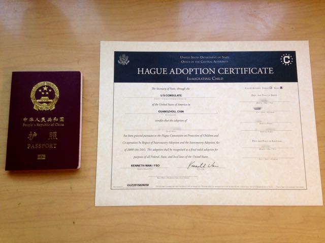 Post Adoption Documents Mine In China